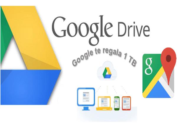 Google regala 1TB gratis de almacenamiento Google Drive Para quienes den Opiniones en Google Maps
