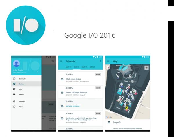 LA app oficial de Google I/O 2016 ya disponible en Google Play Store