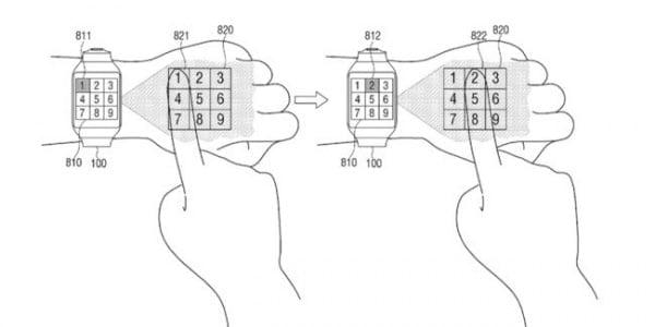 Samsung y su próximo smartwatch con una interfaz virtual en nuestra mano