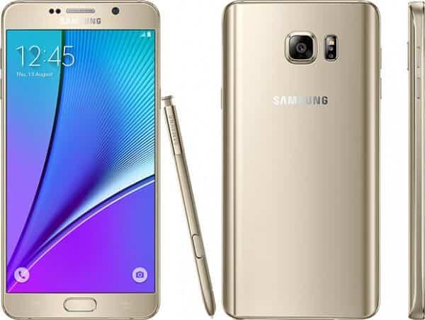 Samsung Galaxy Note 5 platino oro