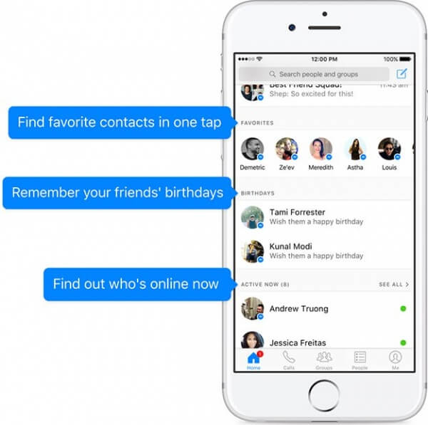lista de favoritos messenger facebook