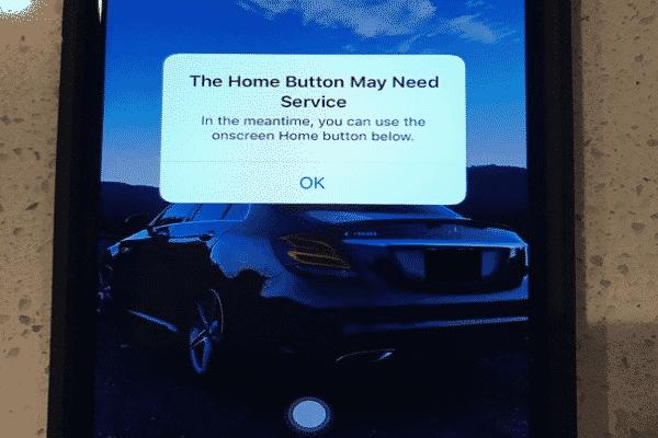 la reacción de IOS cuando el botón del iphone 7 falla
