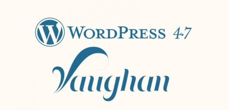 Bienvenido a WordPress 4.7 2016-2017
