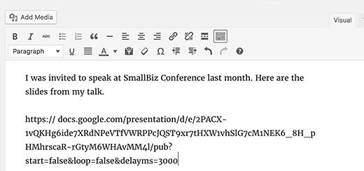 Add your Google Slides presentation URL here
