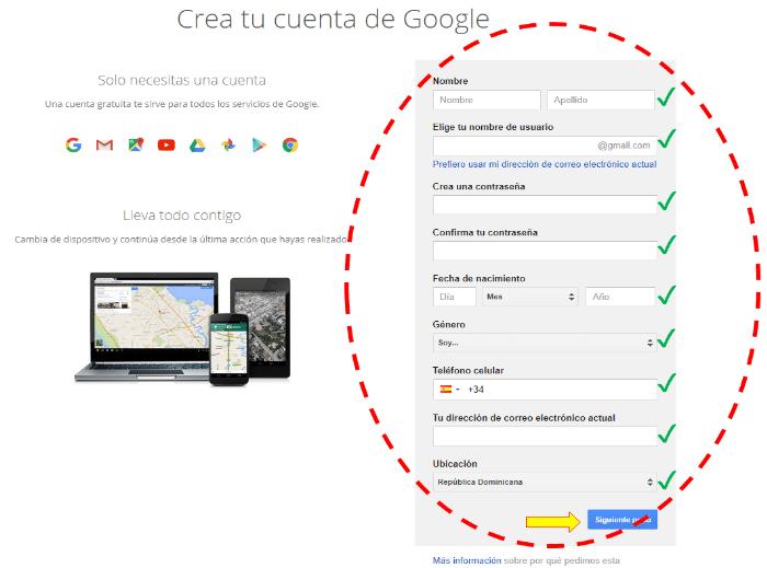 Aprende a crear un correo electrónico de Gmail