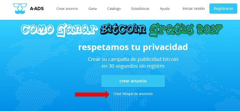 Como ganar bitcoin gratis 2017 A-ADS.COM