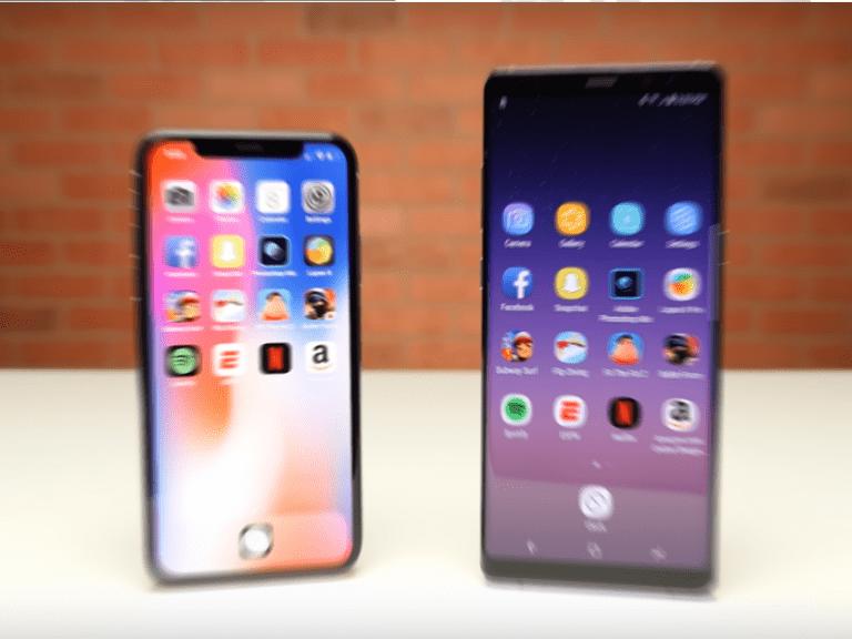iPhone X vs Samsung Galaxy Note 8  (cual es mas potente)