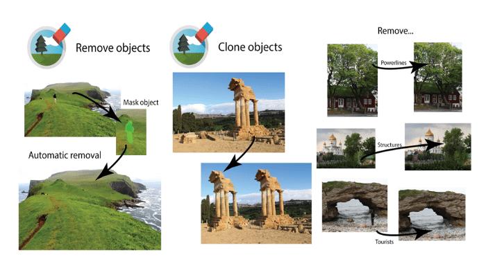eliminar objetos de las fotos