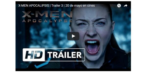 Nuevo tráiler de 'X-Men: Apocalipsis
