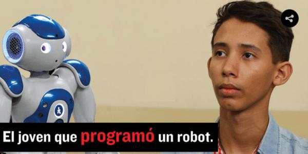 joven que programó un robot