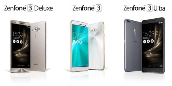 zenfone3- 3 modelos