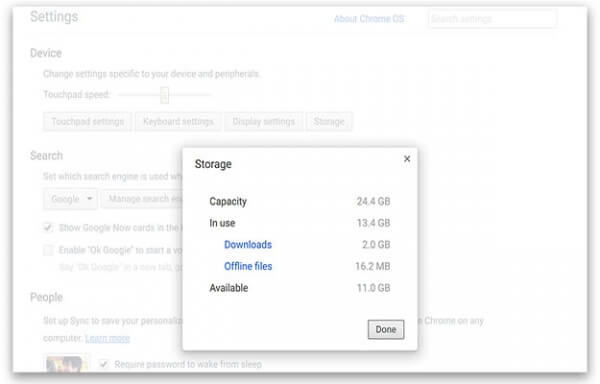 Administrador Chrome OS