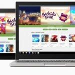 Chromebook de Google utilizando las Apps de la Play store Android