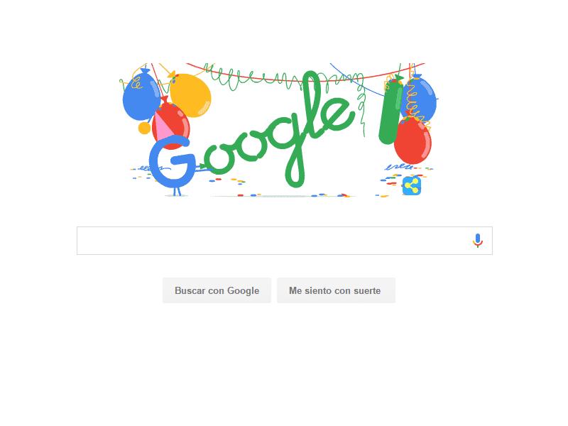 Google celebra 18 años de aniversario