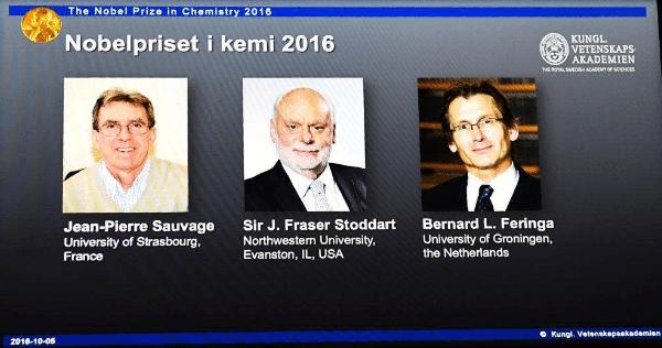 Máquinas pequeñas  ganan el Nobel de Química 2016