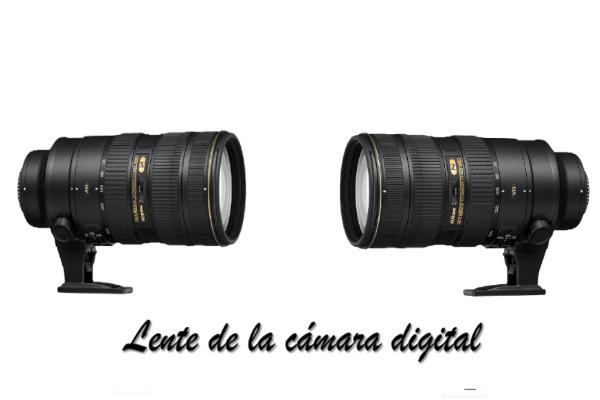 Lente de la cámara digital