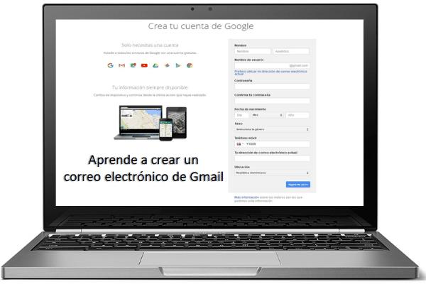 crear un correo electronico de gmail