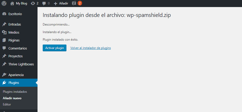 como instalar plugins en wordpress