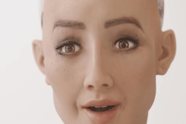 El robot, conocido como Sophia