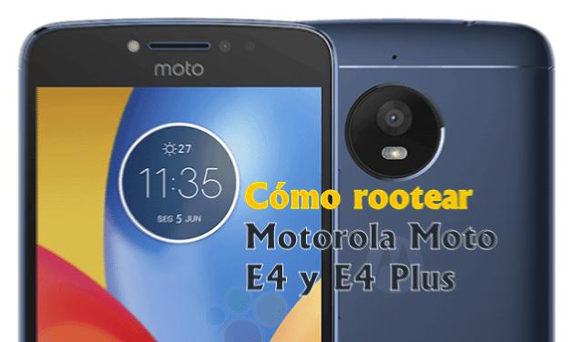 Cómo rootear Motorola Moto E4 y E4 Plus