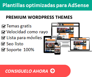 Plantillas Wordpress para optimizar tus anuncios de GOOGLE AdSense